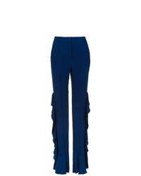 Pantalón de Campana Azul Marino de Reinaldo Lourenço