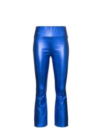 Pantalón de campana de cuero azul de Sprwmn