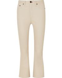 Pantalón de campana de cuero en beige de Rag & Bone