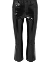 Pantalón de campana de cuero negro de J Brand