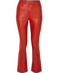 Pantalón de campana de cuero rojo de Stand