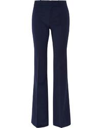 Pantalón de campana de lana azul marino de Gucci