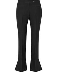 Pantalón de campana de lana negro