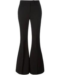 Pantalón de campana de lana negro de Alexander McQueen
