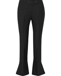 Pantalón de campana de lana negro de Fendi
