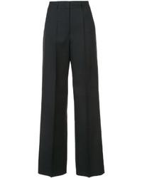Pantalón de campana de lana negro de Jil Sander