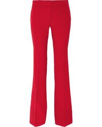 Pantalón de campana de lana rojo de Gucci