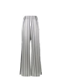 Pantalón de campana de rayas verticales gris de JONATHAN SIMKHAI