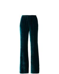 Pantalón de campana en verde azulado de Etro