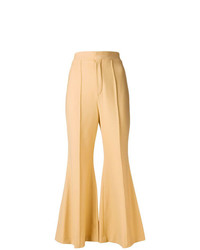 Pantalón de campana marrón claro de Chloé