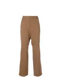 Pantalón de campana marrón claro de Marni