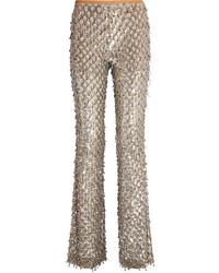 Pantalón de campana plateado de Michael Kors