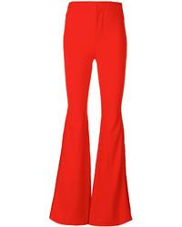 Pantalón de campana rojo