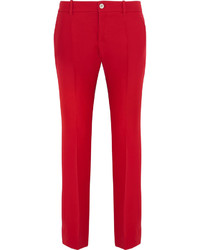 Pantalón de campana rojo de Gucci