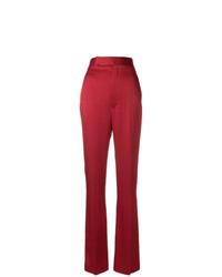 Pantalón de campana rojo de Haider Ackermann