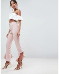 Pantalón de campana rosado de ASOS DESIGN