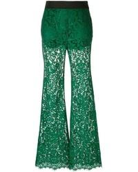 Pantalón de campana verde oscuro de Dolce & Gabbana