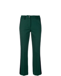 Pantalón de campana verde oscuro de P.A.R.O.S.H.