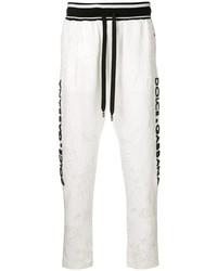 Pantalón de chándal blanco de Dolce & Gabbana