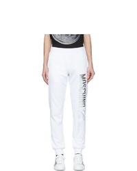 Pantalón de chándal blanco de Moschino