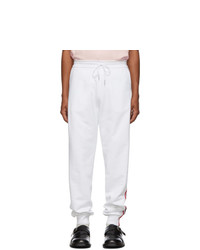 Pantalón de chándal blanco de Thom Browne