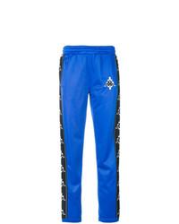Pantalón de chándal bordado azul de Marcelo Burlon County of Milan