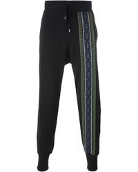 Pantalón de chándal bordado negro