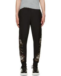 Pantalón de chándal bordado negro de Alexander McQueen