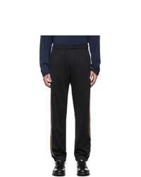 Pantalón de chándal bordado negro de Gucci