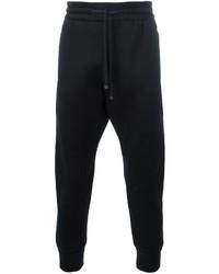 Pantalón de chándal bordado negro de Helmut Lang