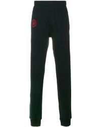 Pantalón de chándal bordado negro de Lanvin