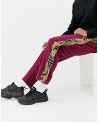 Pantalón de chándal burdeos de ASOS DESIGN