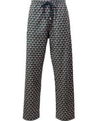 Pantalón de chándal con estampado geométrico verde oscuro de Gucci