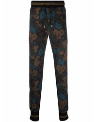 Pantalón de chándal con print de flores negro de Paul Smith