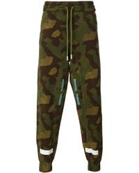 Pantalón de chándal de camuflaje verde oliva de Off-White