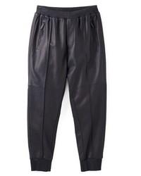 Pantalón de Chándal de Cuero Negro