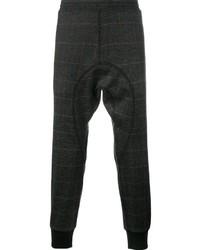 Pantalón de Chándal de Lana a Cuadros en Gris Oscuro de Neil Barrett