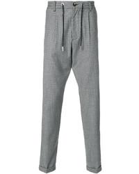 Pantalón de chándal de lana a cuadros gris de Eleventy