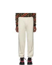 Pantalón de chándal de lana blanco de Fendi