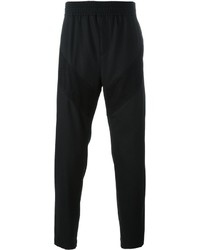 Pantalón de chándal de lana con estampado geométrico negro de Givenchy