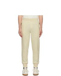 Pantalón de chándal de lana en beige de AMI Alexandre Mattiussi