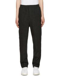 Pantalón de chándal de lana en gris oscuro de AMI Alexandre Mattiussi