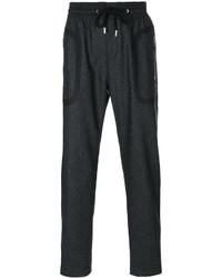Pantalón de Chándal de Lana en Gris Oscuro de Givenchy