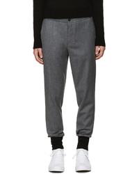 Pantalón de chándal de lana en gris oscuro de Paul Smith