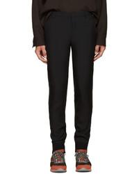 Pantalón de chándal de lana negro de Lanvin