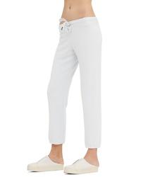 Pantalón de chándal de punto blanco