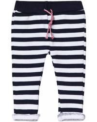 Pantalón de chándal de rayas horizontales azul marino