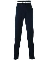 Pantalón de chándal de rayas horizontales azul marino de Ermanno Scervino