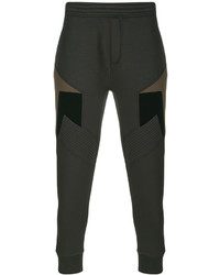 Pantalón de chándal de rayas horizontales verde oscuro de Neil Barrett