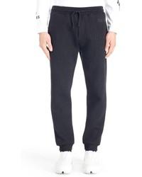 Pantalón de chándal de rayas verticales azul marino